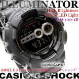 CASIO G-SHOCK SUPER LED 7 YEAR BATTERY GD-100 GD-100-1B