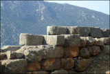 piled stone wall