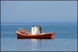 little boat off-shore