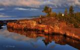 120.1 - Grand Marais: Lighthouse Rocks In Sunrise Light, 2