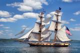 Tall Ships TS4: US Brig Niagara Along Duluth Shore