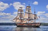 Tall Ships TS3: HMS Bounty Along Duluth Shore