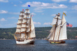 Tall Ships TS17: Barque Europa And Pride Of Baltimore II Along Duluth Shore