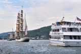 Tall Ships TS22: Barque Europa And Vista Star Entering Duluth Harbor