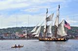 Tall Ships TS6: US Brig Niagara And Kayak Along Duluth's Shoreline