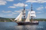 Tall Ships TS19: Brig Roald Amundsen Along Duluth Shore