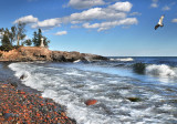 75.13 - Schroeder: Cross River Outlet At Lake Superior.