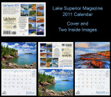 Lake Superior Magazine 2011 Calendar, Cover and Two Inside Images