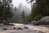 56 - At the Top of Big Manitou Falls:  Foggy Evening
