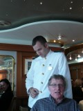 The very appealing Hungrian Waiter. who fussed over us at Lunch.jpg