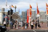 About to cross the road..Darling Harbour