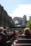 Sydney Harbour Bridge, taken from the Explorer bus