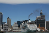 Pacific Pearl docked in Auckland City today.
