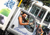 Everyone is FRIENDLY in Auckland City... Even the truck drivers at the lights :-)