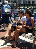 Auckland girls having lunch...enjoying the HOT summers day.