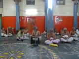 U.Ve KB Devarajan swamy delivering upanyasam on SapthakAthai for Kanyapunarvasu mahotsavam.jpg