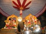 Sarveswaran in Asthanam under the white umbrella.JPG