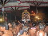 Swami Desikan veethi purappadu with 6 kudais.JPG