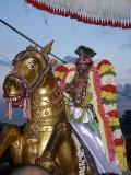 Sri Parthasarathi on Gudirai vahanam - Vijayadasami purappadu.jpg