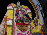 Mylapore - Madhavaperumal devashanam - Peyazhwar doing gnyanopadesam to thirumazhisai piran2.jpg