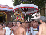 Azhagiya singar Purappadu in the evening after thirumanjanam.jpg