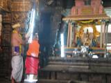 ... is reading the Kanci Sthala Puranam infront of Sri Devadhirajan