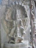 sudarshanaazhwan on periya thiruvadi