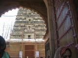 rangai mandir front gopuram, brindavan.JPG