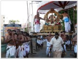 1st Day - Morning -DharmAdhi pEEdam - purappadu in progress.jpg