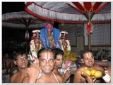 7th day mornning - emperuman proceeding to thiruthEr from AsthAnam.jpg