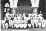 Sri ASR Swamy (sitting 2nd from left ) at HH the maharaja's College,Pudukkottai in 40s.JPG