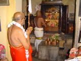 HH doing mangalasasanams to HH Sri Ponnadikkal Jeeyer and other thiruvaradhana moorthis at vanamamalai mutt.jpg