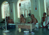 Prakrutham Azhagiyasingar in Purvashramam with Melpakkam Swami (Between them is SrI srivatsangachar )