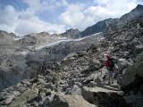 Cantun glacier above the albigna hut