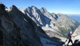 Descending towards Piz Badile