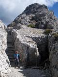 Hexenstein trenches on the summit ridge