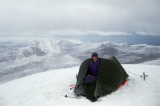Dec 2010 Cul Mor camp in weak morning light- North West Scotland