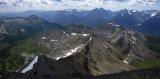 Mt Richardson to Lake Louise mountains