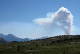 Forest fire coming from British Columbia