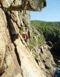 Ochre Slab, Bosigran, Cornwall