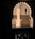 Medersa Ali Ben Yussuf view from a room