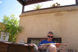 Relaxing on the Riad roof
