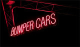 Bumper car without light behind sign