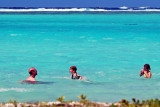 Swimming in lagoon, Huahine