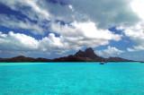 Anchorage inside Bora Bora lagoon