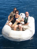 Returning from a baguette run, Bora Bora