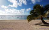One of Aitutaki's goden beaches