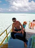 Touring the lagoon, Aitutaki