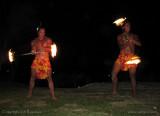 Fire dancers, Aitutaki