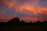 Rainbow with Sunset Colors